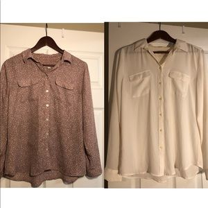 Bundle with two LOFT silky Shirt